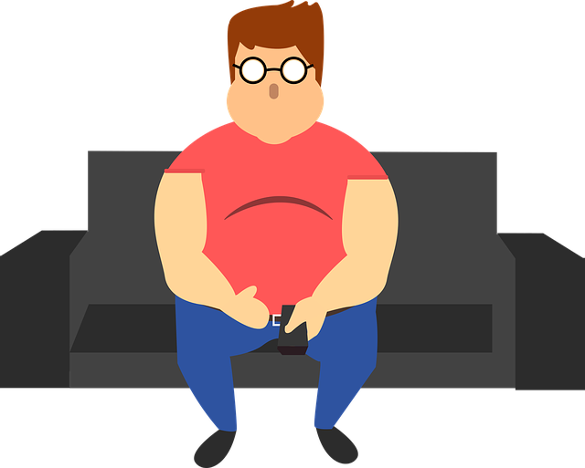 an obese man